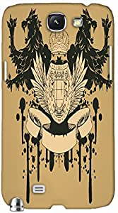 Timpax Slip-resistant, stain-resistant and tear-resistant Hard Back Case Cover Printed Design : A kings throne.Precisely Design For : Samsung Galaxy Note 2
