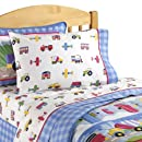Olive Kids Trains Planes Trucks Twin Sheet Set
