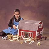 Real Good Toys Ruff 'n Rustic All American Barn Kit - 1 Inch Scale