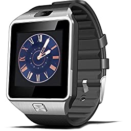 EFOSHM Bluetooth Smart Watch with Camera for Samsung S5 / Note 2 / 3 / 4, Nexus 6, Htc, Sony and Other Android Smartphones (Black)