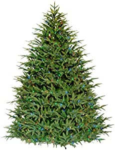 Barcana 7-1/2-Foot Belvedere Fir Patented Light Changer Christmas Tree, Clear/Multi-Colored Lights
