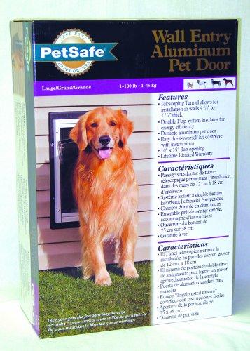Petsafe - Electronics Ppa11-10917 Wall Entry Aluminum Dog Door Large
