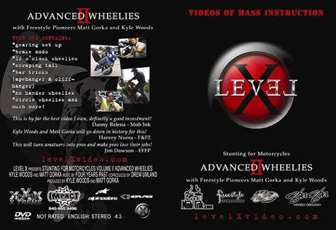 Advanced Wheelies Volume 2 - Level X Video Of Mass Instruction Stunting For Motocycles
