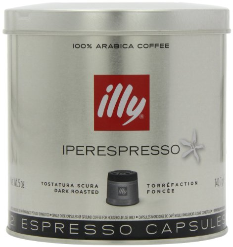 illy Dark Roast Iperespresso Coffee 21 Capsules (Pack of 2, Total 42 Capsules)