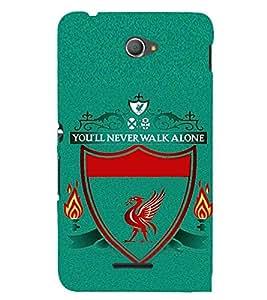 EPICCASE Football case Mobile Back Case Cover For Sony Xperia E4 (Designer Case)