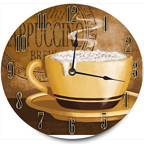 The Stupell Home Decor Collection Clock, Frothy Cappuccino