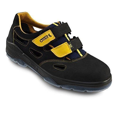 Otter Sandalo Sicurezza 98405-559 ESD S1, Colore: nero/giallo - nero/giallo, <em>not present</em>