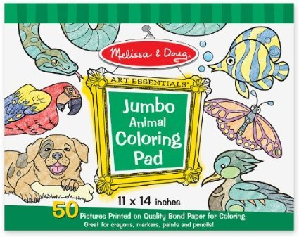 Toy / Game M & D Jumbo Coloring Pad - 50 Unique Animal Artworks Leave Lots Of Room For Creative Fun front-353438