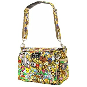 Ju-Ju-Be Better Be Messenger Diaper Bag with Insulated Bottle Pockets and Four Zippered Pockets, Animalini from Ju Ju Be