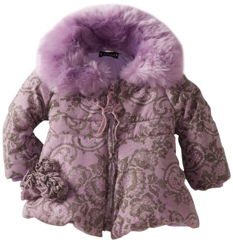 Hot Deal Kate Mack Baby-Girls Infant Lace Confection Poly Filled Jacket, Lavender, 24 Months
