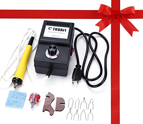 25W Wire Tips Wood Burning Kit Adjustable Burner Machine Set (Calligraphy Kit Wood compare prices)
