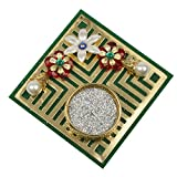 Twisha Square Candle Jali Stand Green Color