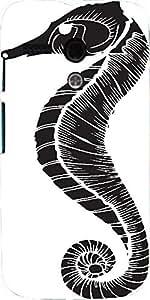 Snoogg Vector Seahorse Designer Protective Back Case Cover For Motorola G / M...