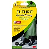 FUTURO TM by 3M Revitalising Trouser Socks for Women - Moderate Compression 15-20 mm/Hg : Medium (UK 4.5-6.5) 2 PACKby Futuro