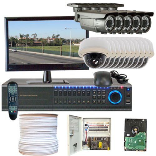 """Best Sale High End Hd-Sdi High Definition 16 Channel Dvr Security Camera System With 4 X Hd-Sdi 1/3"""" 2.1 Megapixel Cmos Camera, Progressive Scan, 1080P Video Output Mode, Hd-Sdi Video Output Level, Vari-Focal 2.8~12Mm Manual Zoom Lens, 72Pcs Ir Led, 164 F"""