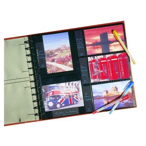 P2 Pratic System 5 Feuillets Recharge Pochettes 5 Photos 10X15 Horizontales / Verticales + Mémo 5 Vues / Page