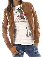 bestyledberlin - Veste blouson de biker en cuir(simili-cuir)- Veste femme noir, brun