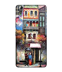 small candy 3d Printed Back Cover For Lenovo A6000 / A6000 Plus - Multicolor illustration