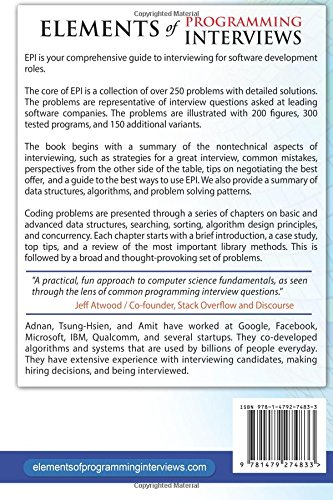 Buy Elements Of Programming Interviews The Insiders Guide On
