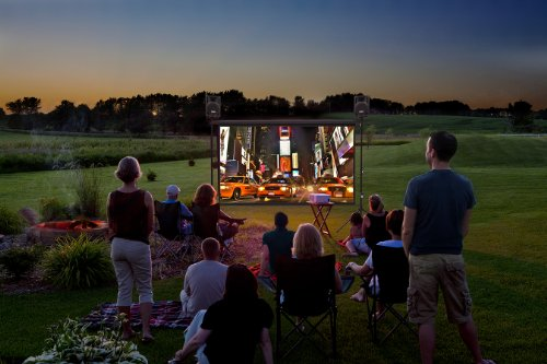 Backyard Theater Complete 8-foot Outdoor Movie