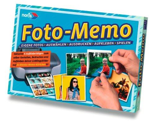 Noris Spiele 606049130 - Foto Memo - mit eigenen Bildern