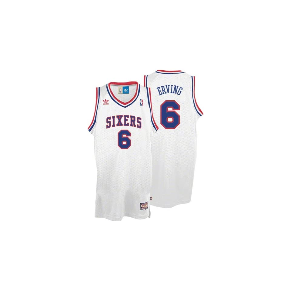 best website bbc22 27ae1 Julius Erving Jersey adidas White Throwback Swingman #6 on ...
