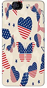Timpax Light Weight Hard Back Case Cover Printed Design : A American Butterfly.Specifically Design For : Micromax A350 Canvas Knight