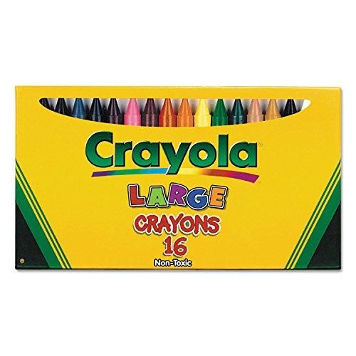 Crayola 520336 Large Crayons, 16 Colors/Box