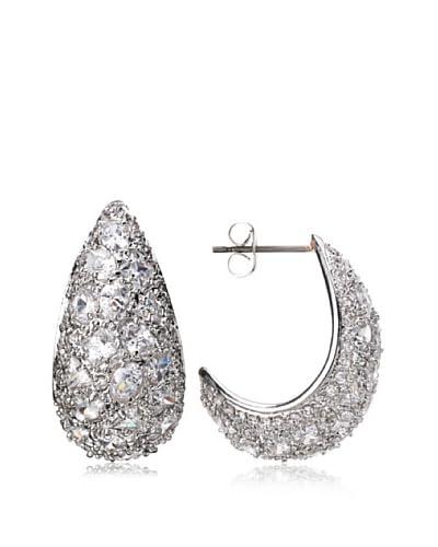 CZ by Kenneth Jay Lane Pavé J Hoop Earrings