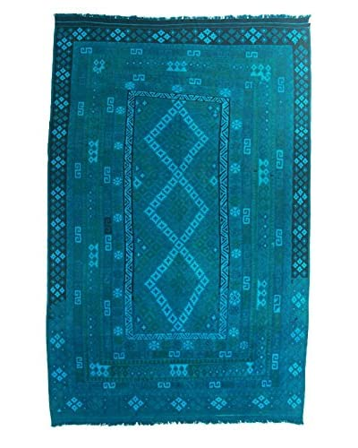 nuLOOM One-of-a-Kind Flatwoven Fawzya Rug, Teal, 8' 2 x 12' 5