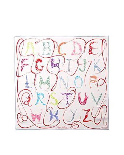 Hermès Women's Alphabet Silk Scarf, White/Multi