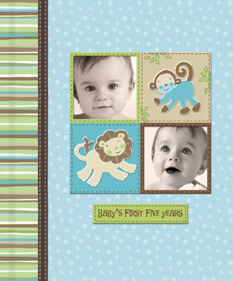 Silly Monkey Baby Boy - Baby's First Five Years Keepsake Record Book with Storage Box 5742500