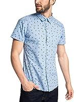 edc by ESPRIT Camisa Hombre (Cielo)