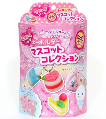 cute DIY clay charms making kit cake Japan
