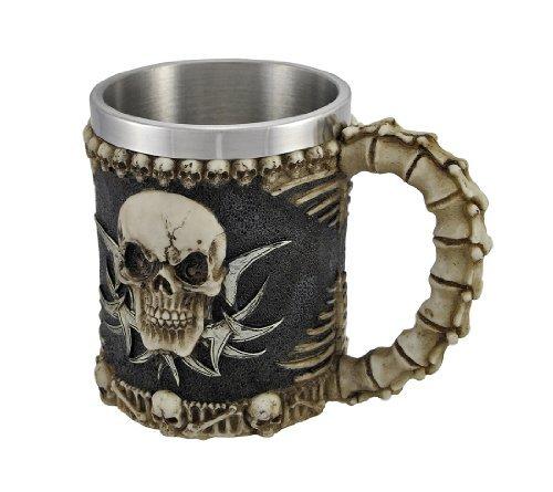 1 X Gothic Tribal Skull Tankard Coffee Mug Cup Creepy (Skull Mug Coffee compare prices)