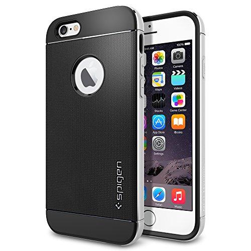 iPhone 6 ケース, Spigen? [ リアル アルミニウム バンパー] ネオ・ハイブリッド メタル iPhone 4.7 (2014) The New iPhone アイフォン6 (国内正規品) (サテン・シルバー SGP11037)
