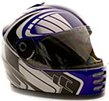 Youth Full Face Helmet Blue, X- Large