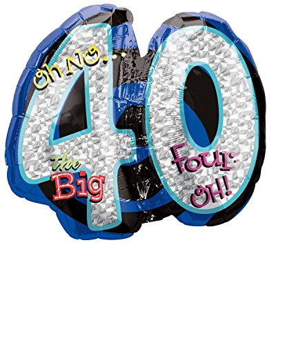 Oh No! 40Th Birthday Shaped Balloon by Anagram - 1