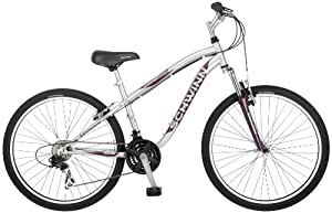 Schwinn Women's High Timber Mountain Bike, Silver, Small
