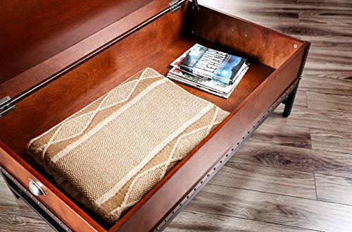 Furniture of America Cassone Contemporary Trunk Style Coffee Table, Cherry 3
