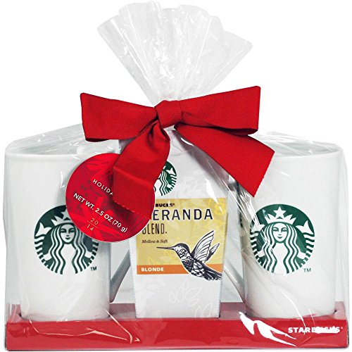 Starbucks Veranda Blend Coffee for Two Mug Holiday Gift Set