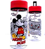 Leak-resistant Disney Mickey Mouse 90th Tritan STRAW Water Bottle BPA Free 550ml / 19oz