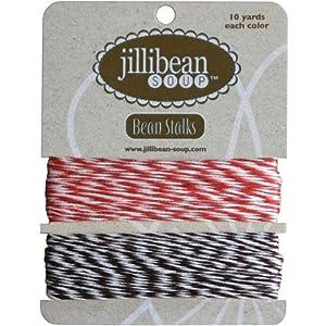 Jillibean Soup Bean Stalks Twine 20yds-Red/Brown