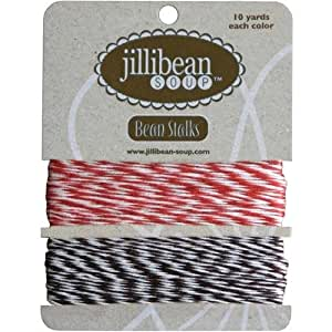Jillibean Soup Bean Stalks Twine 20yds-Red/Brown