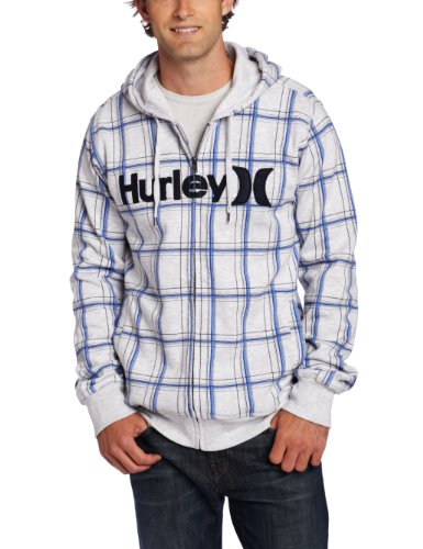 Hurley Men's Gravitation Fleece, Heather White, Medium