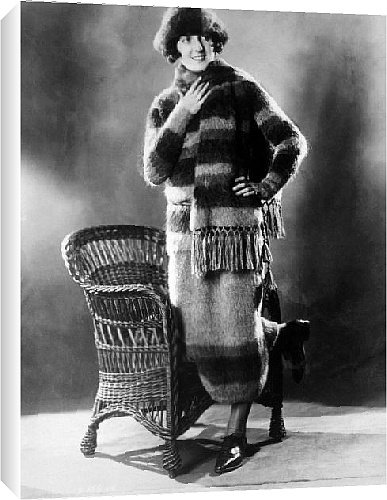 Canvas Print of Skating outfit consisting of sweater from Everett Collection