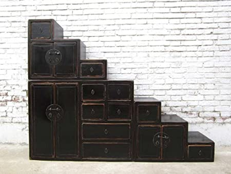 China large steps Chest of Drawers on board stand