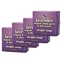 Lavender Soap - All Natural Lavender with Organic Shea Butter - Four Soap Set