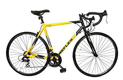 Reflex Men's Tour Road Bike - Yellow, 56 cm