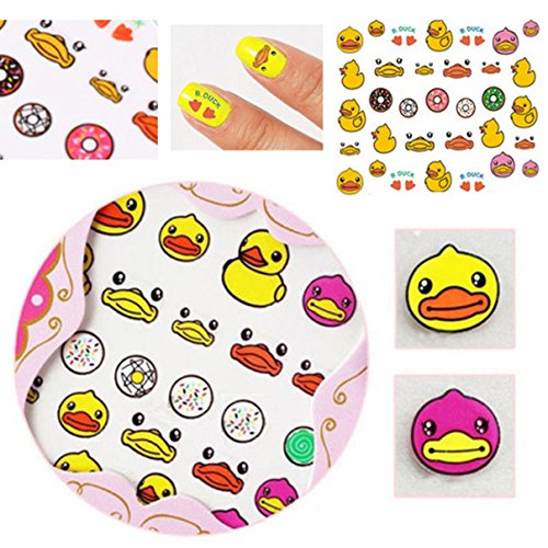 Exquisite Chic Duck Art Acrylic 3D Mixed Design Decoration Nail Stickers (Duck Feet Mirror compare prices)